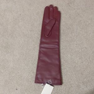 Leather left hand glove
